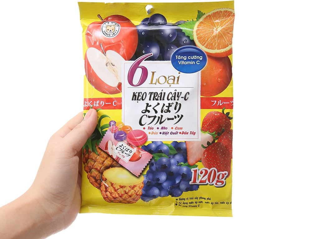 Kẹo trái cây c Eikodo gói 120g 5