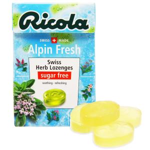 Kẹo thảo mộc không đường Ricola Alpin Fresh hộp 40g