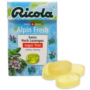 Kẹo ngậm thảo mộc không đường Ricola Alpin Fresh hộp 40g