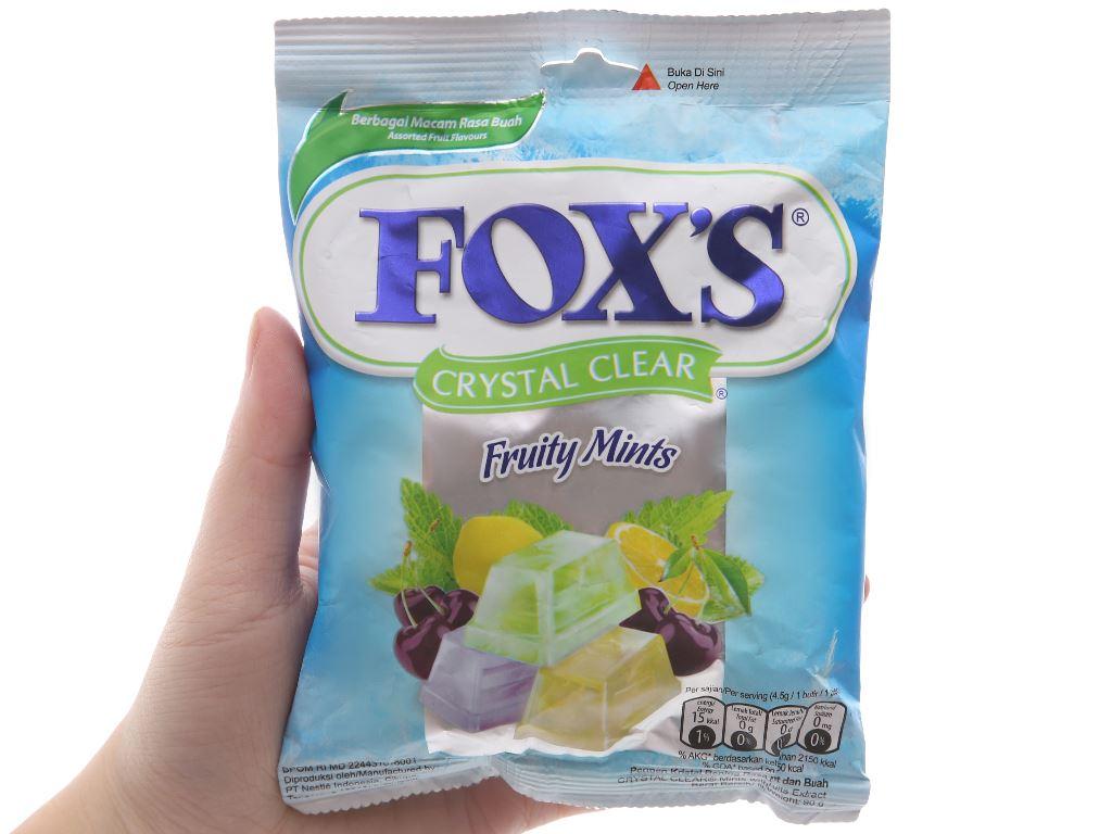 Kẹo hương bạc hà trái cây Fox's gói 90g 5