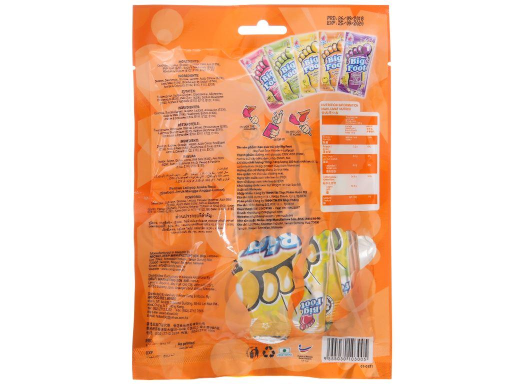Kẹo mút chấm bột hương trái cây BigFoot 72g 3