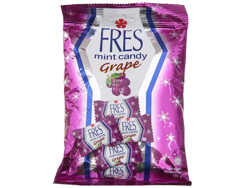 Kẹo bạc hà vị nho Fres gói 150g 1