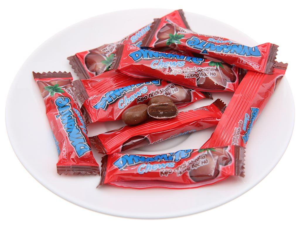 Kẹo nhai socola hương bạc hà Dynamite Chews gói 1kg 3