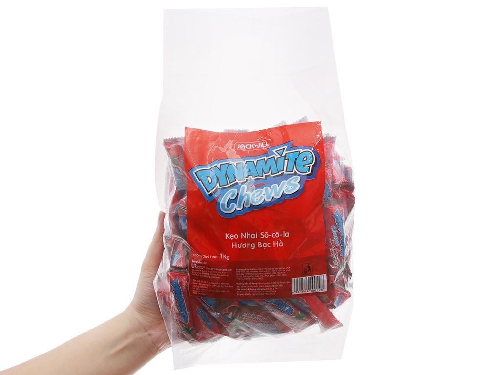 Kẹo nhai socola hương bạc hà Dynamite Chews gói 1kg 4