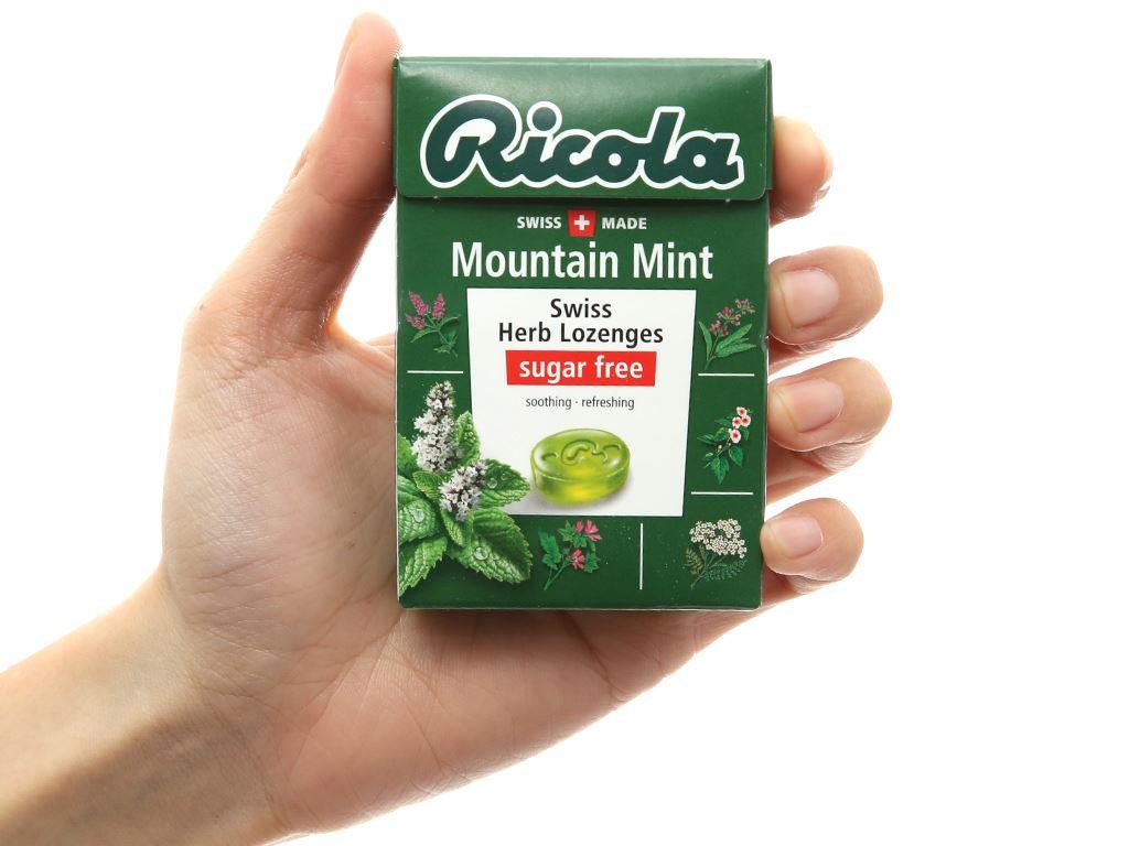 Kẹo thảo mộc không đường Ricola Mountain Mint hộp 40g 3