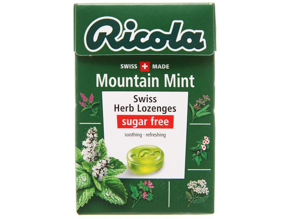 Kẹo thảo mộc không đường Ricola Mountain Mint hộp 40g 1