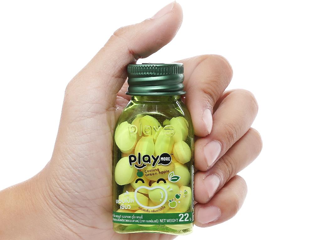 Kẹo the vị táo xanh Play More hũ 22g 4