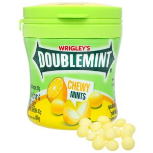 Kẹo nhai chanh bạc hà DoubleMint hộp 80g