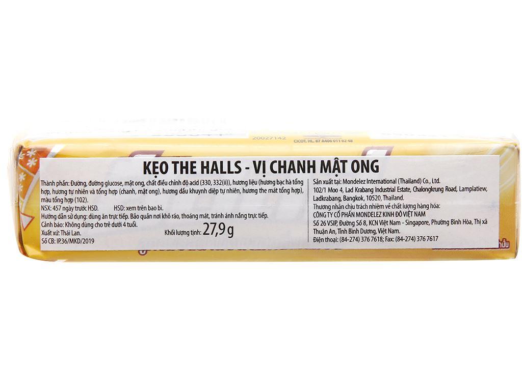 Lốc 2 thanh kẹo the vị chanh mật ong Halls 27.9g 3