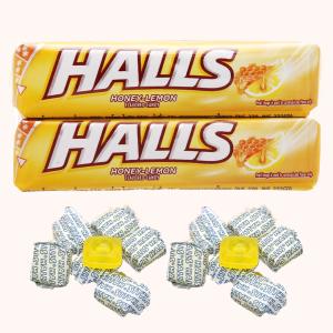 Lốc 2 thanh kẹo the vị chanh mật ong Halls 27.9g