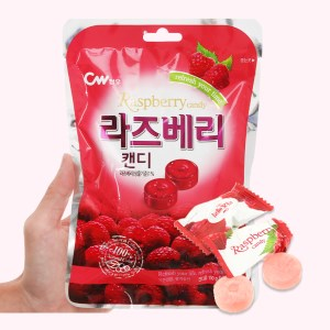 Kẹo trái cây vị mâm xôi CW gói 100g