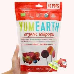 Kẹo mút hữu cơ 4 hương vị trái cây Yumearth gói 241g