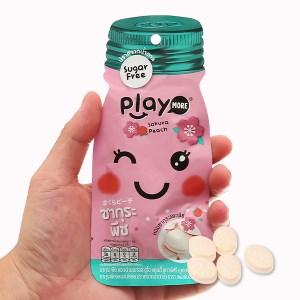 Kẹo the vị đào sakura Play More gói 12g