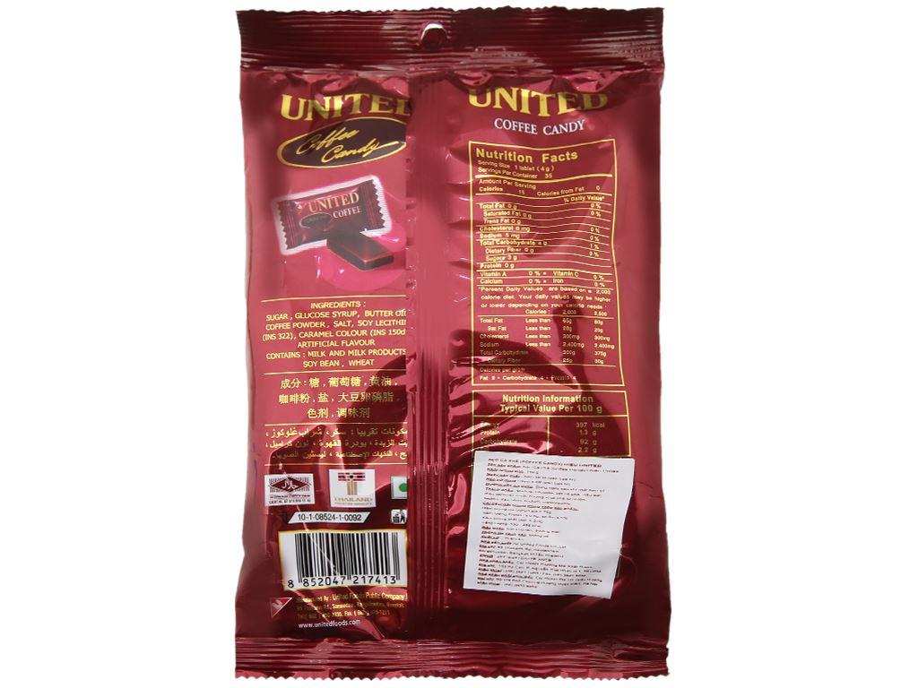 Kẹo cà phê United gói 140g 3