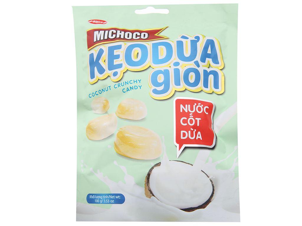 Kẹo dừa giòn nước cốt dừa Bibica Michoco gói 100g 2