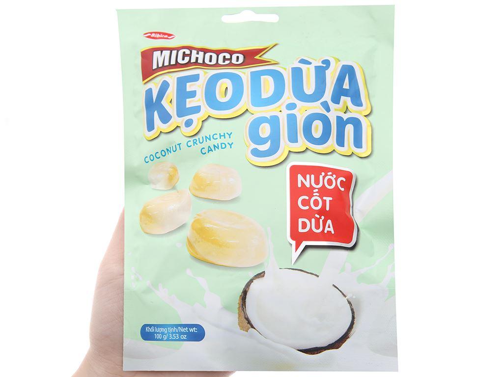 Kẹo dừa giòn nước cốt dừa Bibica Michoco gói 100g 5