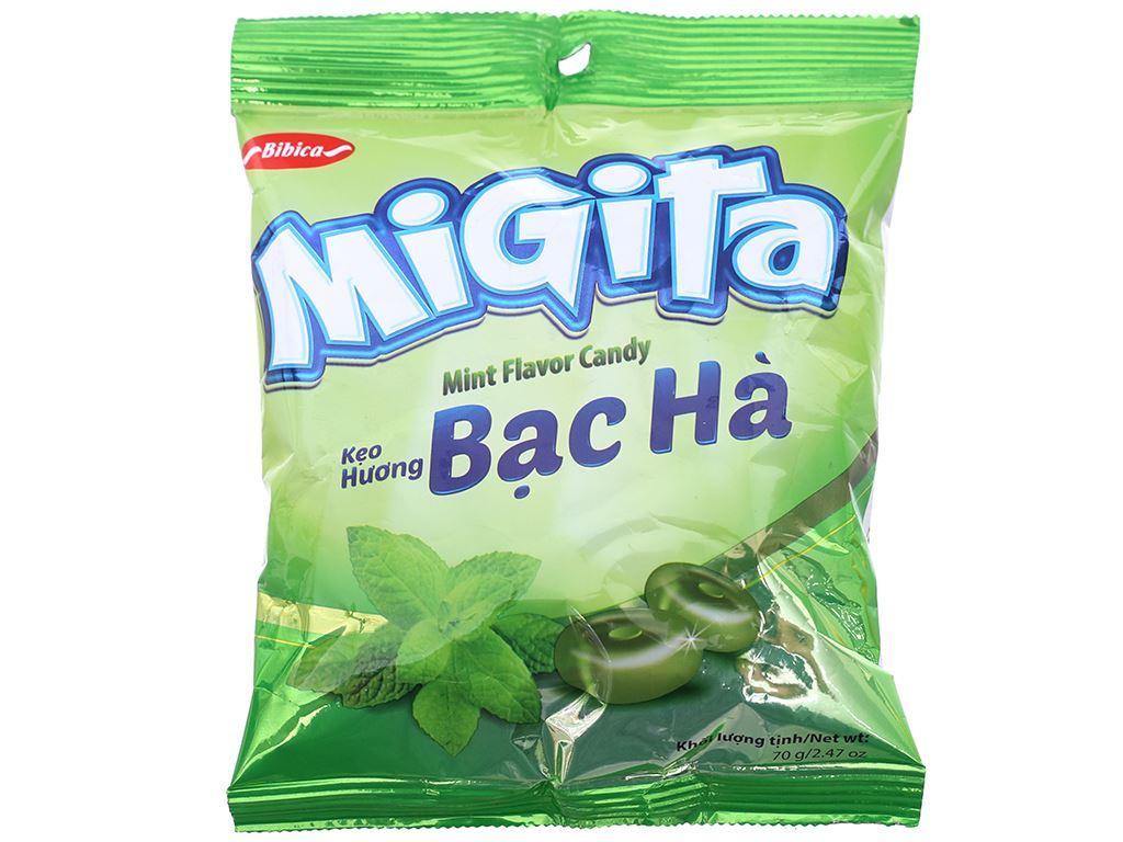Kẹo ngậm hương bạc hà Migita gói 70g 1