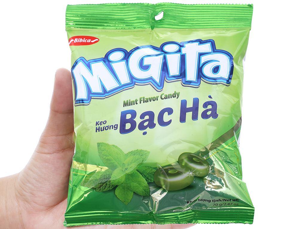 Kẹo ngậm hương bạc hà Migita gói 70g 4