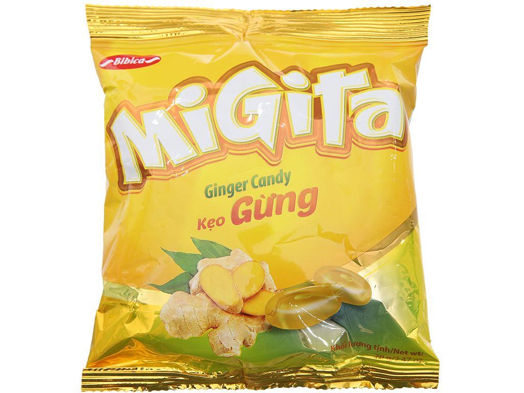 Kẹo ngậm vị gừng Migita gói 70g 2