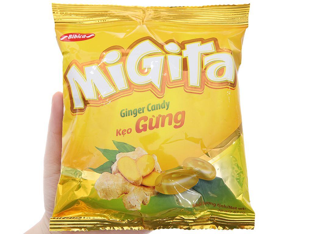Kẹo ngậm vị gừng Migita gói 70g 5