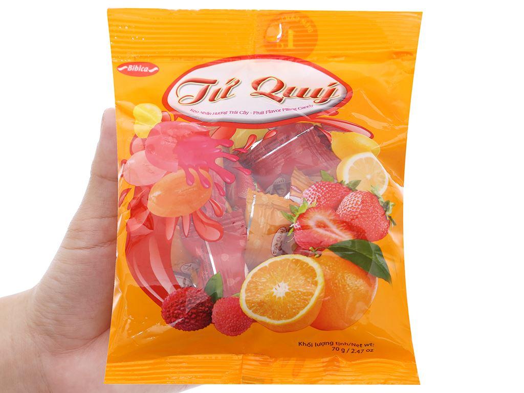 Kẹo nhân hương trái cây Tứ Quý gói 70g 3