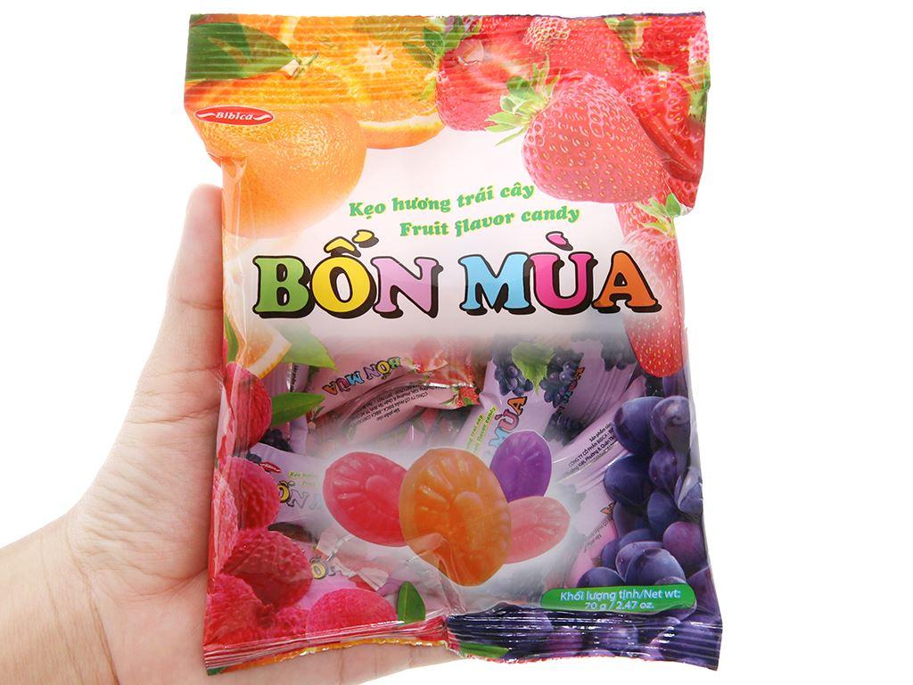 Kẹo trái cây Bốn Mùa gói 70g 4