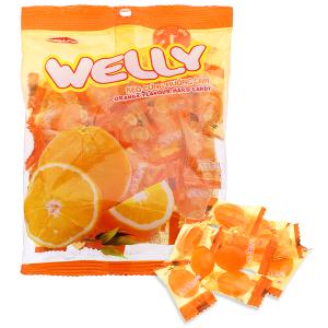 Kẹo cứng hương cam Bibica Welly gói 90g