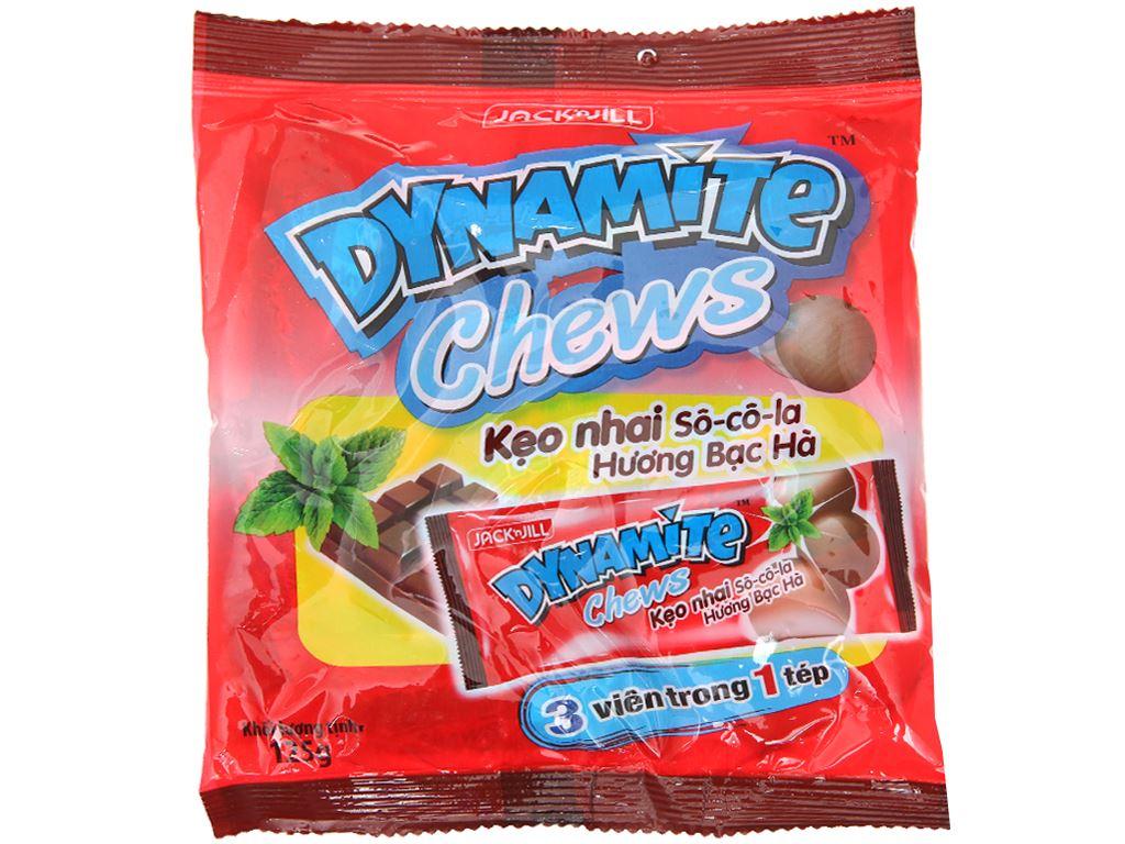 Kẹo nhai socola hương bạc hà Dynamite Chews gói 125g 1