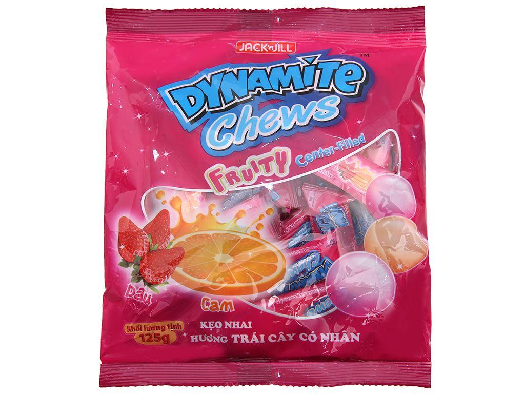 Kẹo nhai hương trái cây có nhân Dynamite gói 125g 2