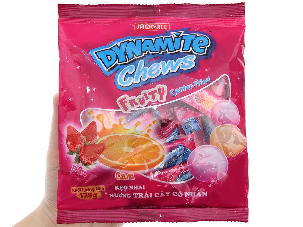 Kẹo nhai hương trái cây có nhân Dynamite gói 125g 5