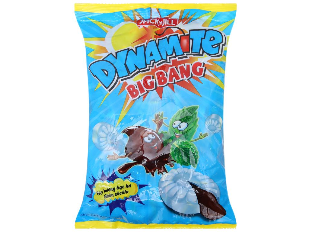 Kẹo hương bạc hà nhân socola Dynamite Big Bang gói 330g 2