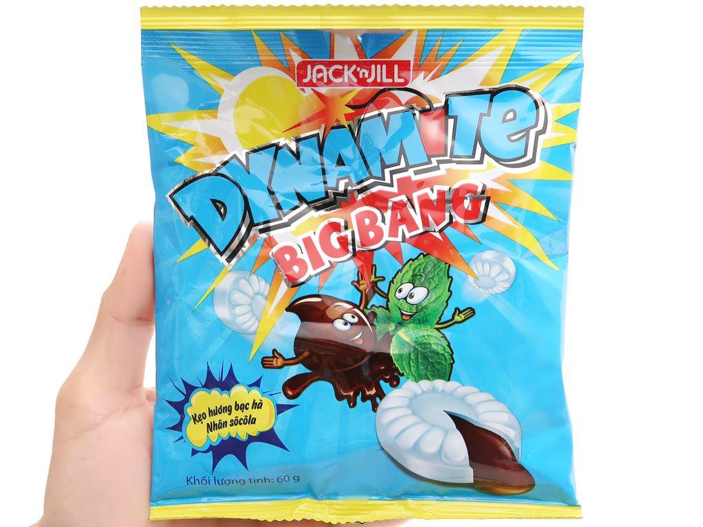Kẹo hương bạc hà nhân socola Dynamite Big Bang gói 60g 8