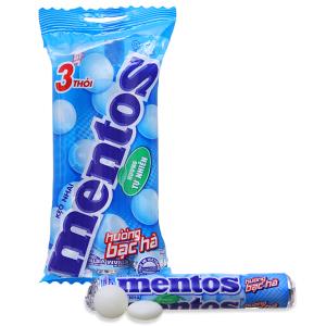 Kẹo nhai hương bạc hà Mentos gói 90g