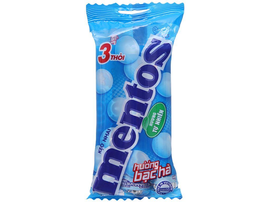 Kẹo nhai hương bạc hà Mentos gói 90g (3 thỏi) 2