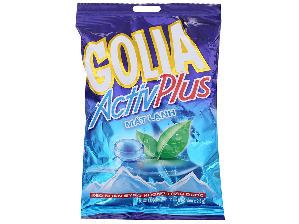 Kẹo ngậm hương thảo dược nhân syro Golia ActivPlus gói 112.5g 1