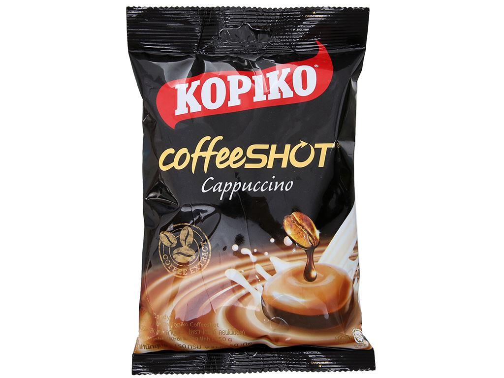 Kẹo ngậm cà phê Cappuccino KOPIKO CoffeeSHOT gói 150g 2