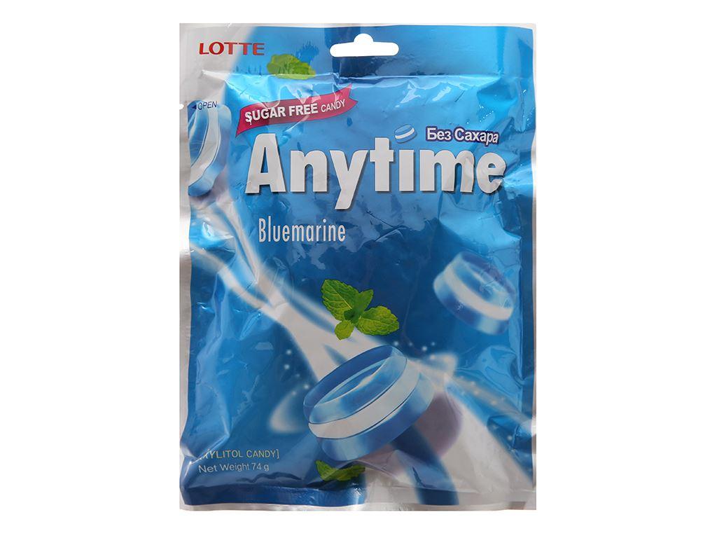 Kẹo ngậm không đường hương bạc hà Anytime Bluemarine gói 74g 1