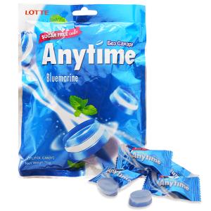 Kẹo ngậm không đường hương bạc hà Anytime Bluemarine gói 74g