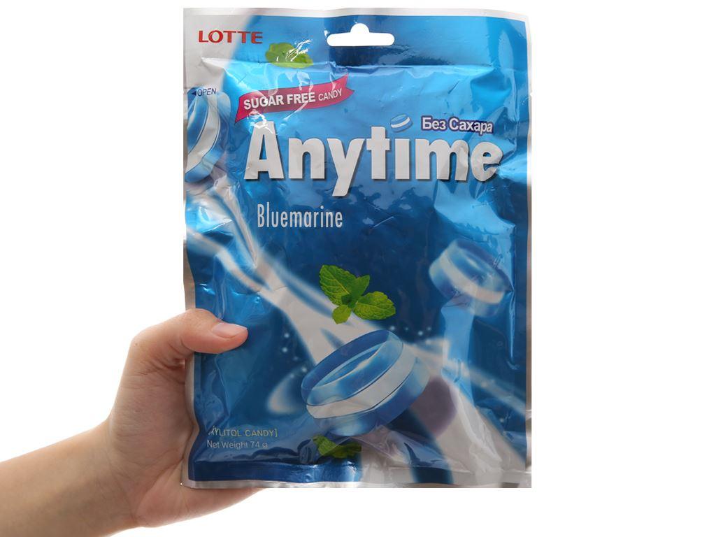 Kẹo ngậm không đường hương bạc hà Anytime Bluemarine gói 74g 5