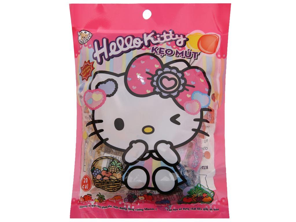 Kẹo mút Hello Kitty hương trái cây gói 140g 2