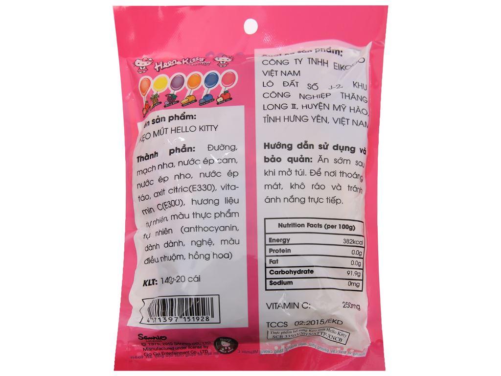 Kẹo mút Hello Kitty hương trái cây gói 140g 3
