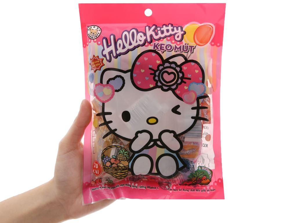 Kẹo mút Hello Kitty hương trái cây gói 140g 5