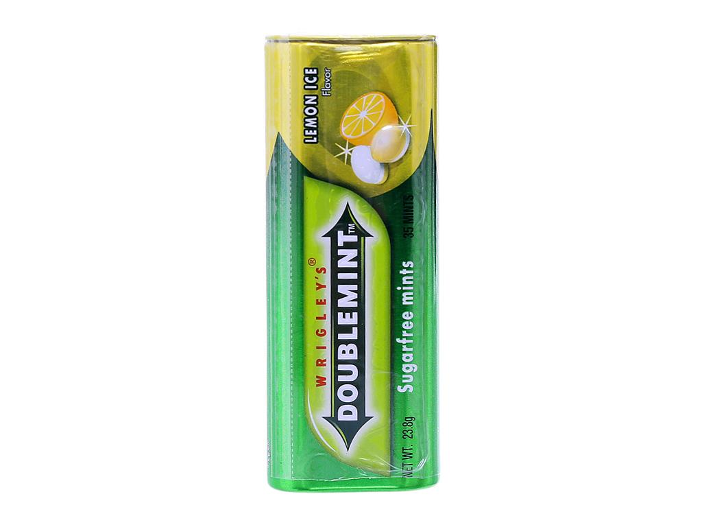 Kẹo ngậm Double Mint Không đường hương chanh 23.8g 2