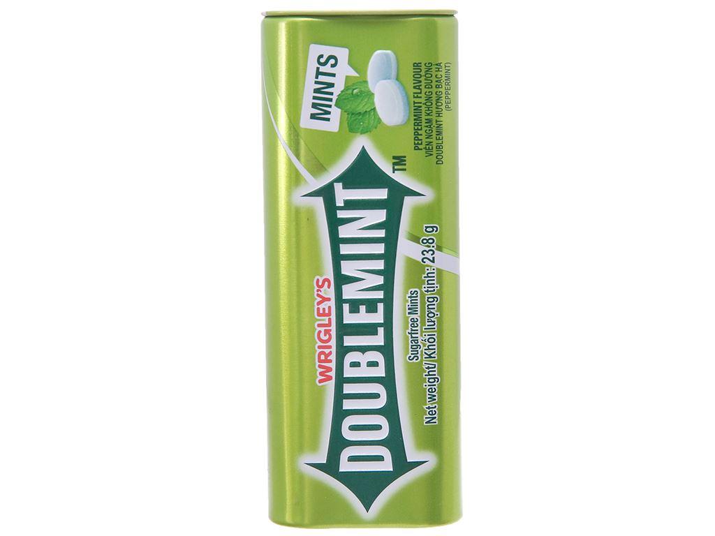 Viên ngậm không đường hương bạc hà DoubleMint hộp 23.8g 2