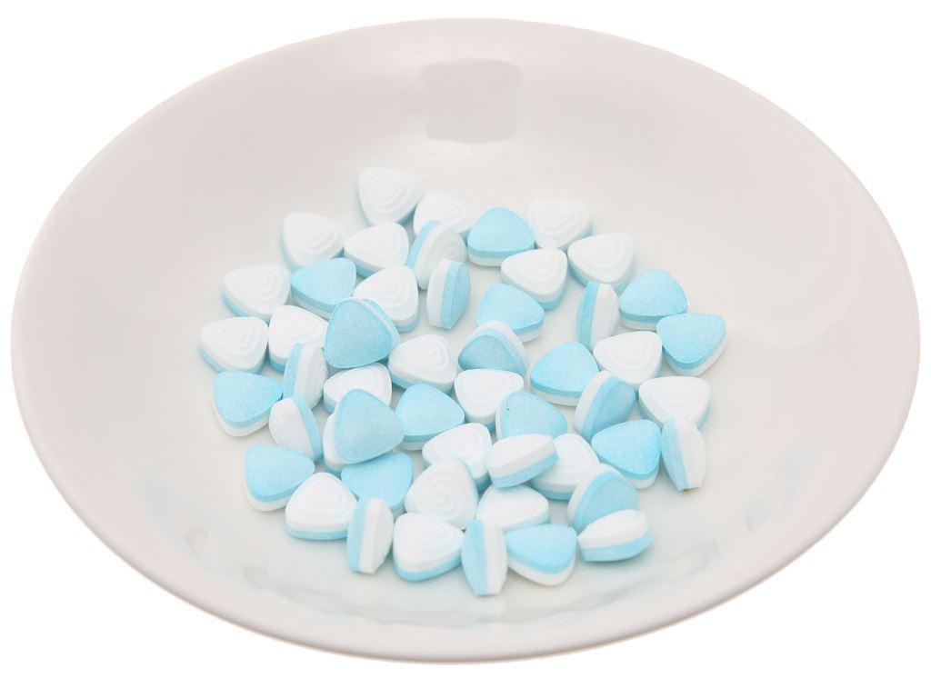 Kẹo ngậm không đường hương peppermint với trà xanh Mentos Pure Fresh hộp 35g 3