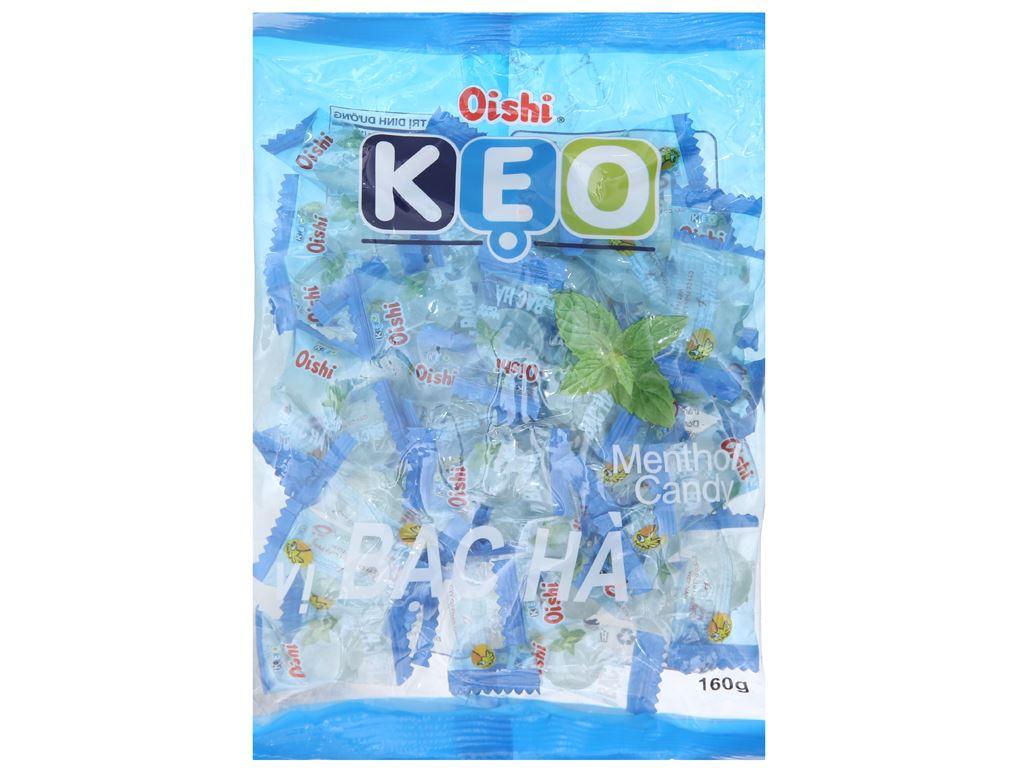 Kẹo ngậm bạc hà Oishi gói 160g 2