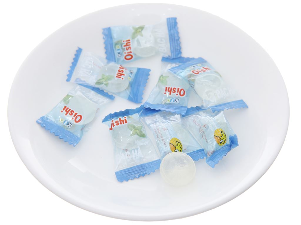 Kẹo ngậm bạc hà Oishi gói 160g 4
