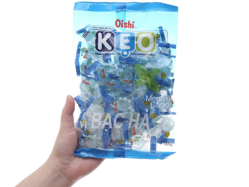 Kẹo ngậm bạc hà Oishi gói 160g 5