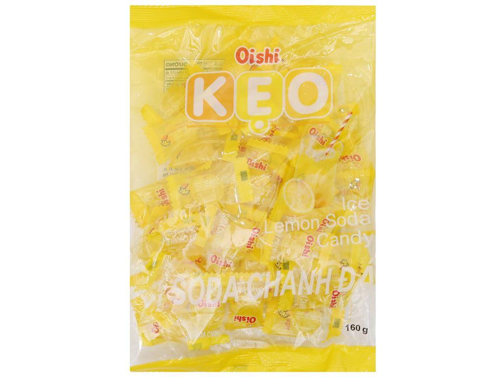 Kẹo ngậm soda chanh đá Oishi gói 160g 2