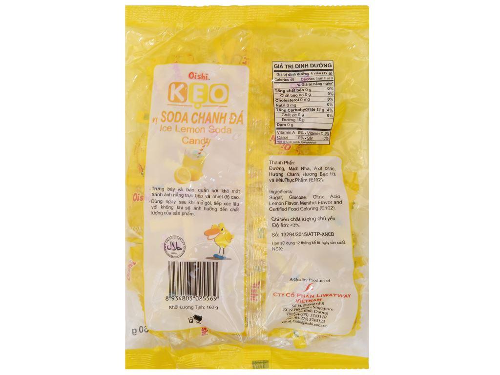 Kẹo ngậm soda chanh đá Oishi gói 160g 3
